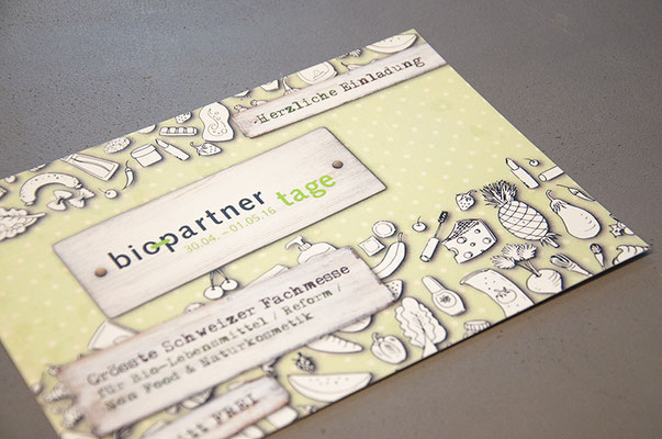 Biopartner – Visual Identity des Brands «BioPartnerTage» inkl. Illustrationen