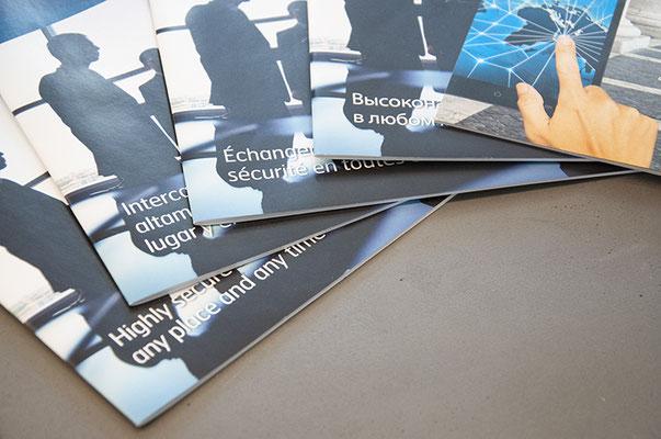 Gestaltung Kundenmagazin in 6 Sprachen inkl. russisch und arabisch, 2 mal pro Jahr