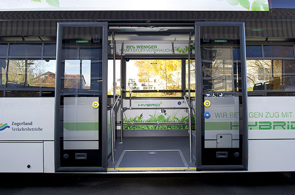 Zugerland Verkehrsbetriebe (ZVB) – Design des Hybrid-Bus