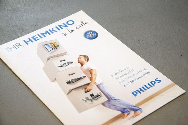Philips Schweiz – Schaufensterkampagne inkl. Kreation Key Visual, Poster, 3D-Tisch, Broschüre etc.