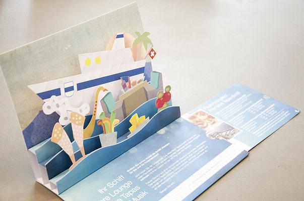 Zugersee Schifffahrt – 3D-Popup-Mailing für Events