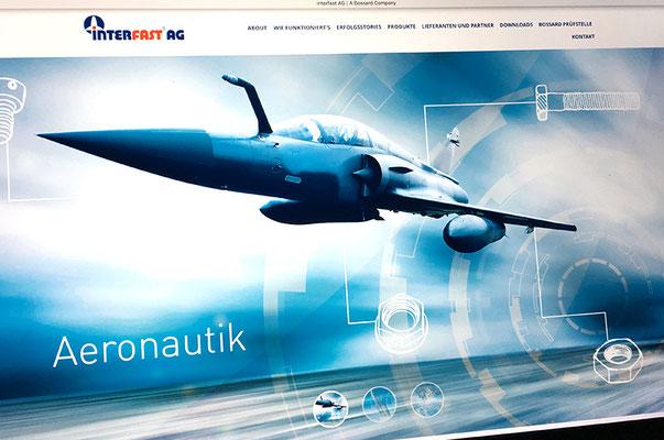 Interfast AG - Visual Identity inkl. Webseite und Visitenkarten