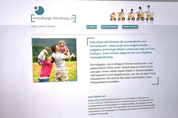Erziehungs Beratung – Redesign Visual Identity inkl. Logo, Broschüren und Webseite