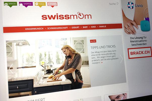 Swissmom – Visual Identity inkl. Logo und Webseite
