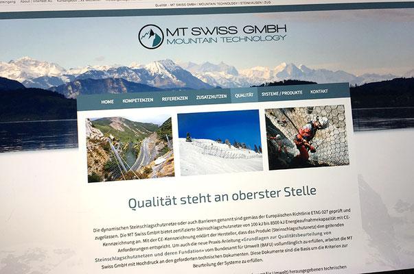MT Swiss GmbH – Visual Identity inkl. Logo, Briefschaften und Webseite