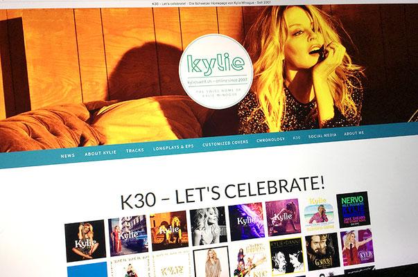 kylieswelt.ch – Visual Identity inkl. Logo und Schweizer Webseite von Kylie Minogue