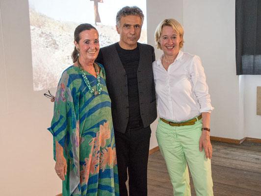 Elisabeth Claus, Ahmad Rafi und Martina Fehlner