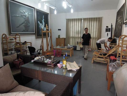 Tae-Jun Kim + Xie Chang Yong im Atelier