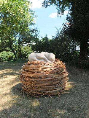 Yoonsun Kim, Gelassenheit II, Bambus, Vulkanit