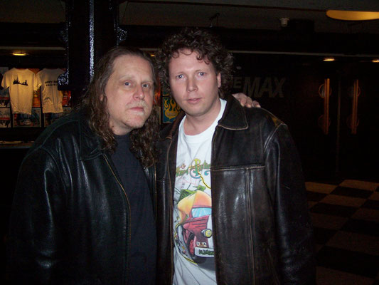 First time meeting Warren Haynes, Hamburg Germany