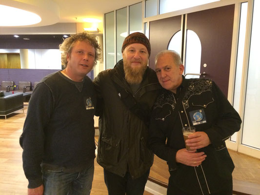 With Derek Trucks and my friend Paul Harvey, 17-11-2015, VredenburgTivoli Utrecht NL