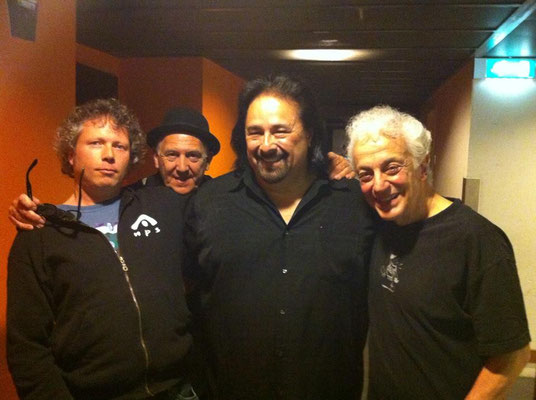 With my friend Paul Harvey, Coco Montoya and Doug MacLoad - Oosterpoort, Groningen NL