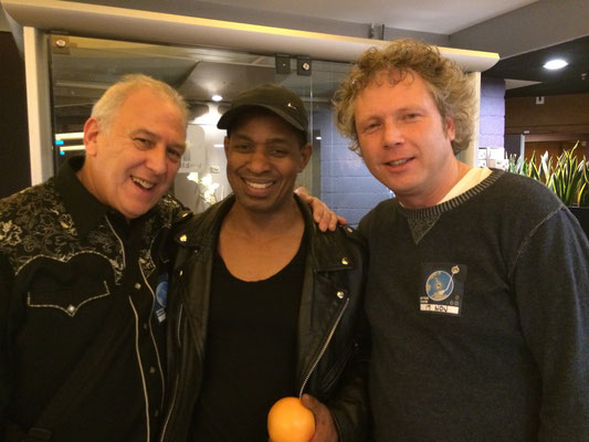 With Kofi Burbidge and my friend Paul Harvey, 17-11-2015, VredenburgTivoli Utrecht NL