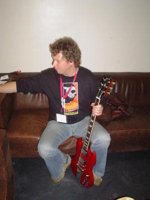 Guitar tech for Sonny Landreth and Derek Trucks - Paradiso dressing room, Amsterdam NL