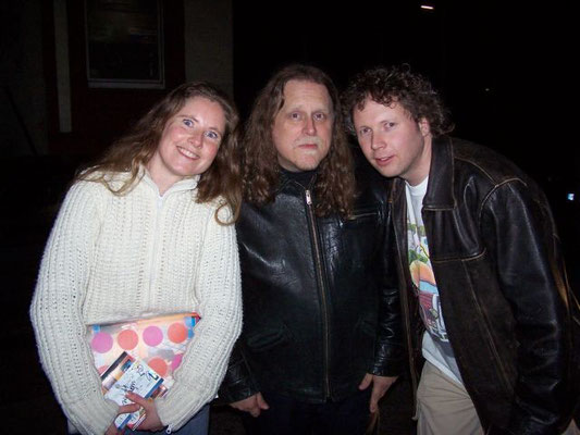 My sister Jeannette, Warren Haynes and me in Hamburg Germany