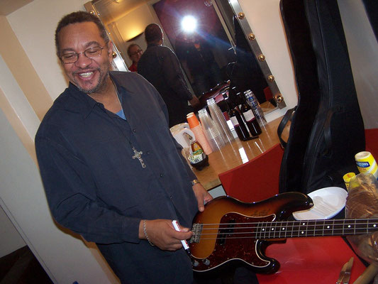 George Porter Jr. signs my Squier Precision Bass - Paradiso, Amsterdam
