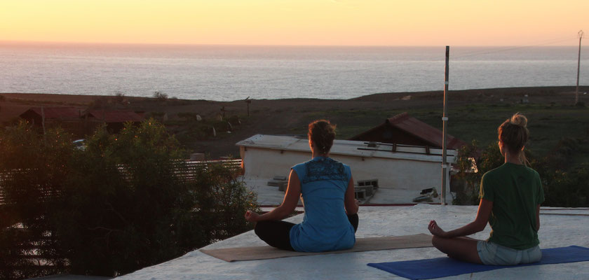 Meditation auf dem Dach