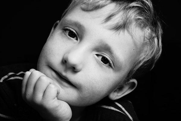 Schwarz weiß Portraits