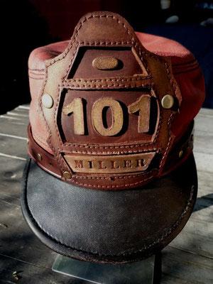 Firefighter Cap Gr. 59,5  UNIKAT nur per mailorder  für 149 € erhältlich