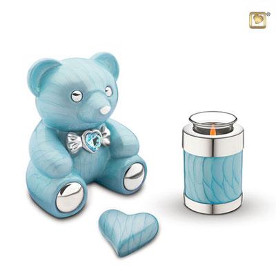 Herz: 0,10 l (Microurne) = 102,00 EUR, Kerze: 0,30 l = 127,00 EUR, Bär: 1,80 l = 287,00 EUR