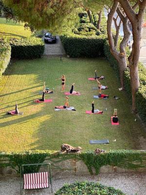Session Pilates en Italie
