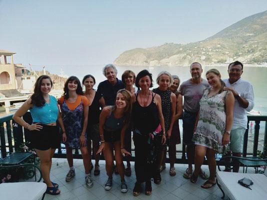 photo de groupe du stage Pilates Italie Cinque terre
