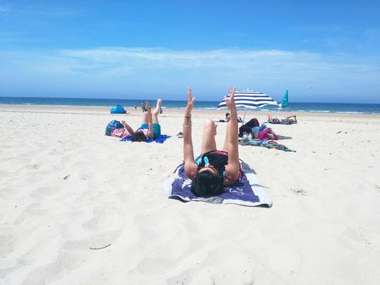 Séance Pilates à la plage Bordeaux