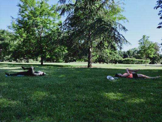 Séance Pilates en extérieur Bordeaux