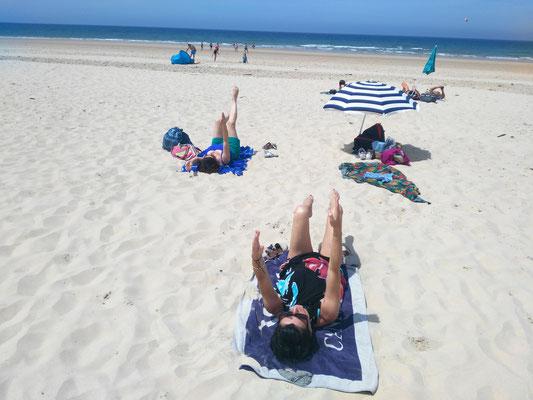 Cours de Pilates à la plage Lacanau
