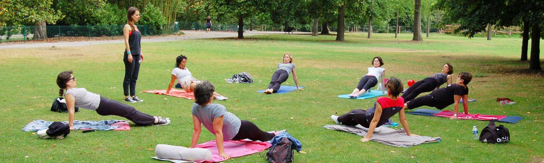 Cours de Pilates en plein air à Bordeaux