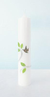 Taufkerze Blätter Vogell
