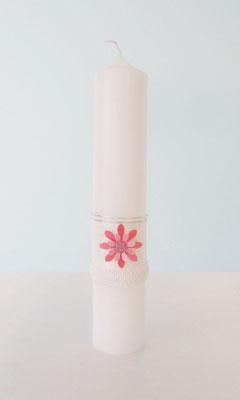 Taufkerze Blume