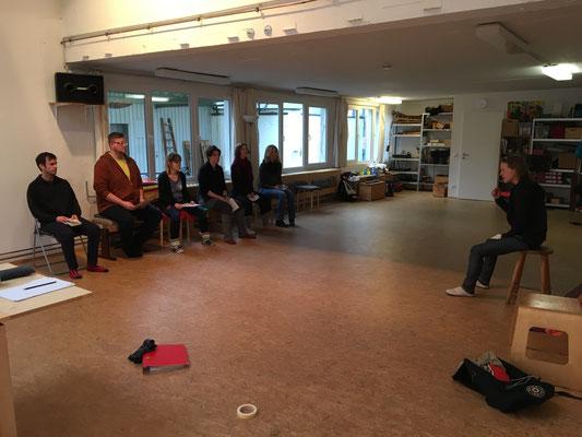 Eine Übung zur direkten Ansprache / Bild: Sprechstil Atelier