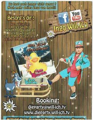 Ingo Willich -  Künstler und Entertainer - Autogrammkarte