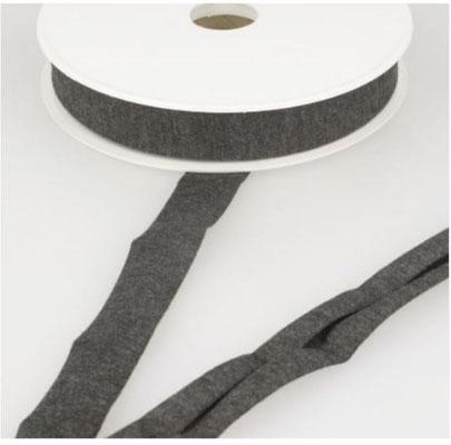 Jersey Schrägband, Farbe anthrazit meliert