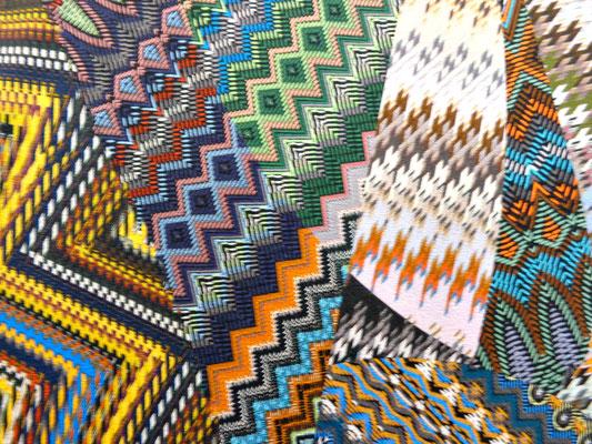 Designer Jersey mit retro Muster