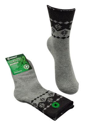 Thermo Bambus Socken für Kids und Erwachsene - hellgrau