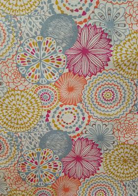 Dekostoff mit Mandalas in tollen Farben