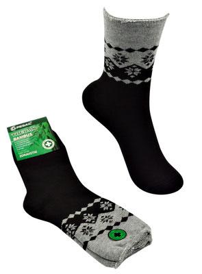 Thermo Bambus Socken für Kids und Erwachsene - anthrazit