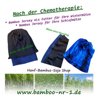 Schlafmütze aus Bambus Viskose nach der Chemotherapie.