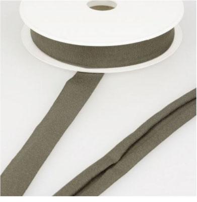 Jersey Schrägband, Farbe khaki