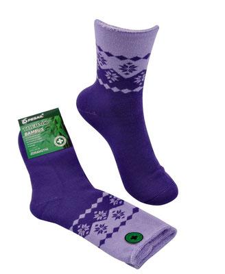 Thermo Bambus Socken für Kids und Erwachsene - lila