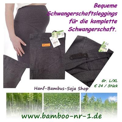 Bequeme Schwangerschaftsleggings  aus Bambus Viskose für die komplette Schwangerschaft.