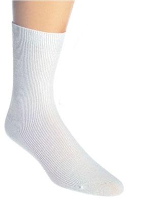 Weiße Bambus Socken für medizinische Berufe, UNISEX, für geschwollene Füße