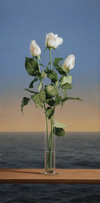 White Roses, 80 x 40 cm, óleo sobre lienzo