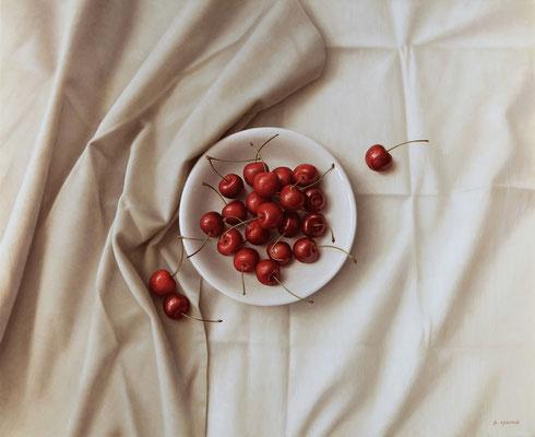 Cherries, 50 x 61 cm, óleo sobre lienzo, 2011