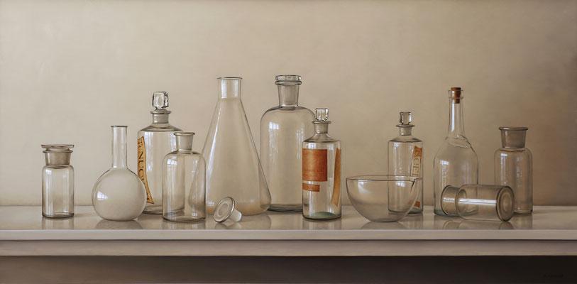 Cristal, 46 x 92 cm, óleo sobre lienzo, 46x92 cm, 2016