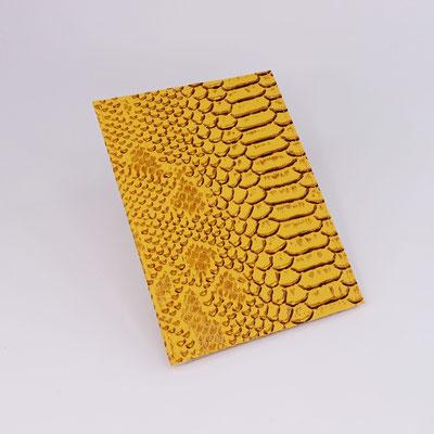 Etui carte-grise en simili dragon jaune - Fabrication française