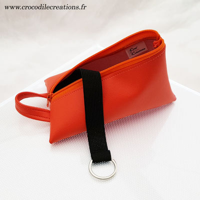 Berlingot range-clefs, simili, orange, zip orange