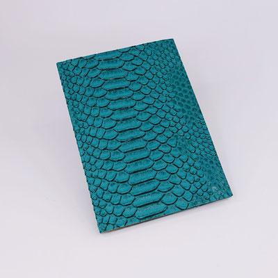 Etui carte-grise en simili dragon émeraude - Fabrication française